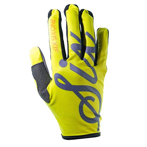 SixSixOne Kinder Handschuhe Comp Lines, Neon Gelb, L, 7203-0