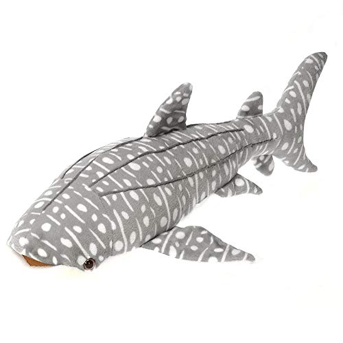 Wildlife Tree 13 Inch Gray Stuffed Whale Shark Plush Animal Ocean Collection