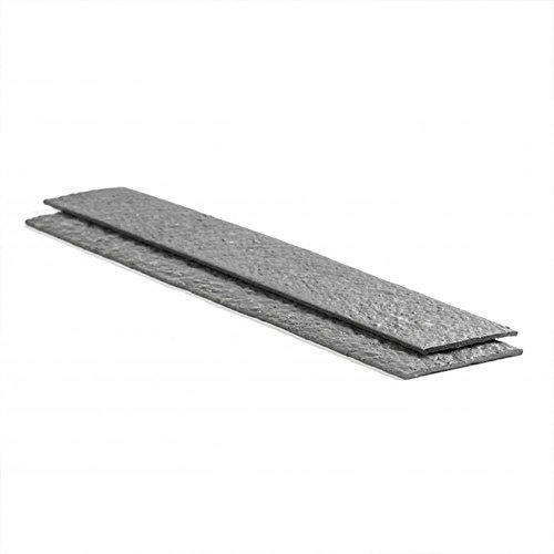 ECOLAT Rasenkante gerade, 2m x 14cm x 1cm, in grau, Beeteinfassung aus 100% recyceltem Kunststoff