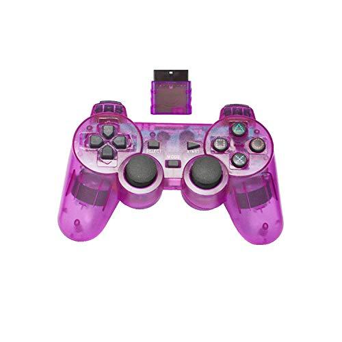 Contrôleur de jeu de téléphone |Manette de jeu sans fil 2.4G pour Sony PS2 Controller Double Vibration Shock Controle pour Playstation 2 Console Joystick-violet-