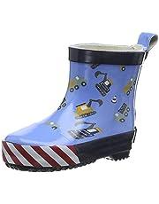 Playshoes Bota de Agua Excavadora, Botas de Goma de Caucho Natural Unisex niños