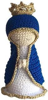 Vergine Maria Amigurumi, santa Maria all'uncinetto - velo di colore e applicazioni