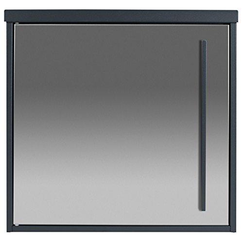 Design-Briefkasten anthrazit-grau (RAL 7016) MOCAVI Box 102 Postkasten Edelstahl-Tür modern matt, rostfrei, deutsche Qualität, groß, Din A4