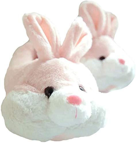 shixiaoshu Damen und Herren Bunny Herbst und Winter Cartoon Indoor Plüsch Hausschuhe (Rosa, Numeric_38)