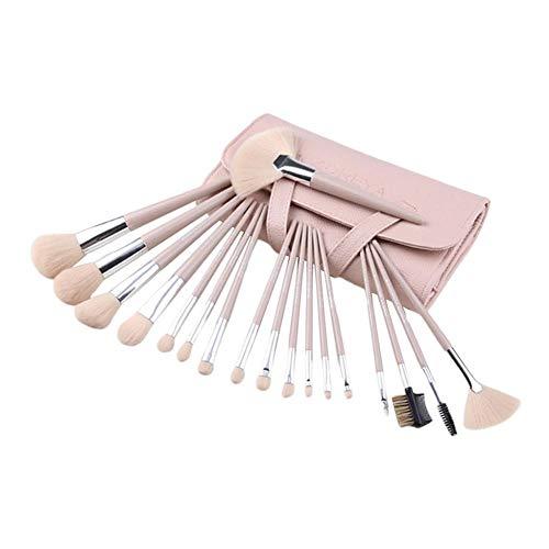 SM SunniMix Set de 18 Pinceaux de Maquillage Professionnels + Baguette de Mascara + Pinceau à Paupières + Pinceau à Lèvres + Peigne à Sourcils