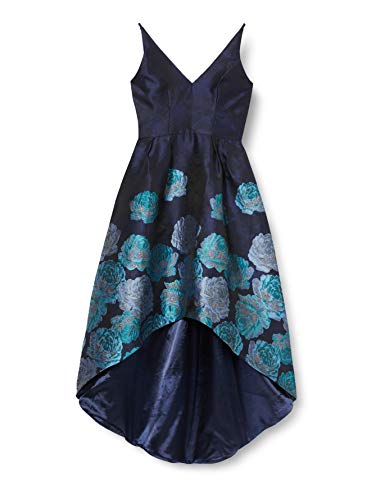 Chi Chi London Damen Cocktail Kleid Chi Chi Niquita Dress Maxi, Blau (NAVY NB), 40 (Herstellergröße: 14)