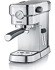 Severin Espresa KA Espressomachine , circa 1350 W, massieve en professionele piston met een gewicht van circa 450 g, instelbare temperatuur en regelbare inhoud kopje.