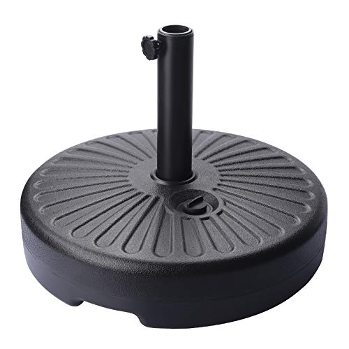 FRUITEAM 50LBS Heavy Duty Patio Market Outdoor Umbrella Base Stand Water Filled Holder for Outdoor, Lawn, Garden
