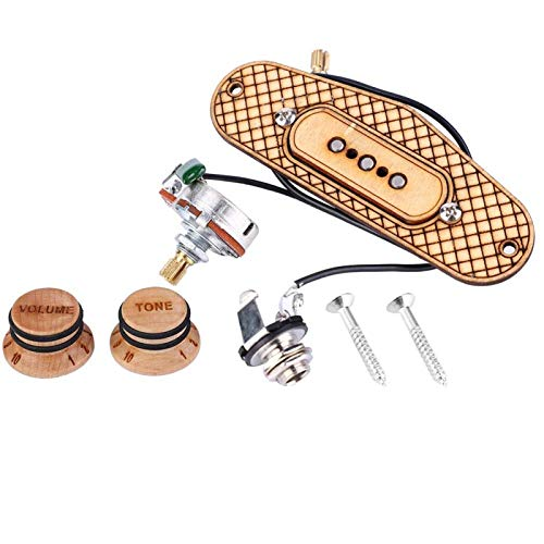 Dreisaitige/3-polige Zigarrenbox-Gitarren-Tonabnehmer mit Schaltung,Ahorn Alnico Kupfer Schallloch Tonabnehmer für Profis und Amateure