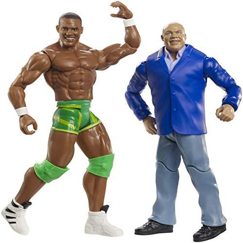 Mattel WWE GBN52 Basis Figuren (15 cm) 2er-Pack Kurt Angle & Jason Jordan