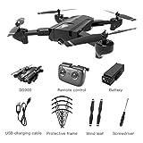 Gwendoll SG900 Quadcopter Pliable 2.4GHz 720P Drone Quadcopter WiFi FPV Drones GPS Positionnement Optique Débit RC Drone avec Caméra