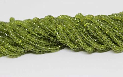 LOVEKUSH 50 % rabatt ädelsten smycken naturlig peridot fasetterad rondell pärlor strand/augusti månadssten pärlor, gröna pärlor, peridot rondeller/14 tum 5 mm kod: - RADE-25368