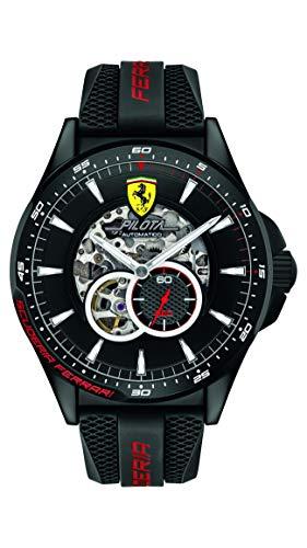 Scuderia Ferrari Orologio Skeleton Automatico Uomo con Cinturino in Silicone 830600