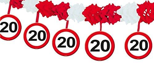 Folat Girlande Verkehrsschild 20 Jahre / 4 Meter