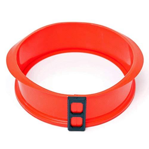 Berger Import Silikon Springform Kastenform Kuchenform Backform Auflaufform mit Glasboden rot rund 24 cm