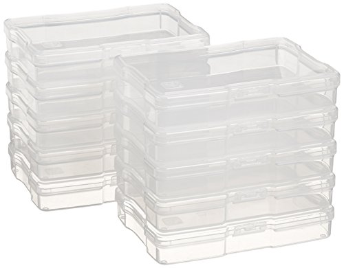 IRIS 4' x 6' Photo Storage and Embellishement Craft Case, 10 Pack, Clear (585160)