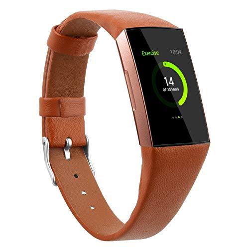 Gransho Correa de Reloj Compatible con Fitbit Charge 4 / Charge 4 SE/Charge 3 SE/Charge 3, Cross Piel Correa/Banda/Pulsera/Reemplazo (Pattern 1)