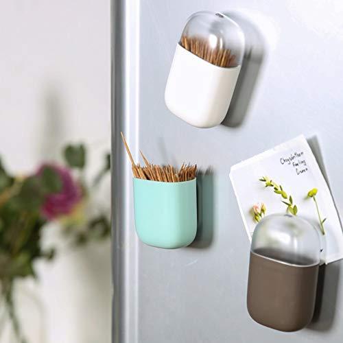 Zahnstocherhalter Blaward Plastic Refrigerator Magnet Staubdichte Zahnstocherbox Household Toothpick Organizer
