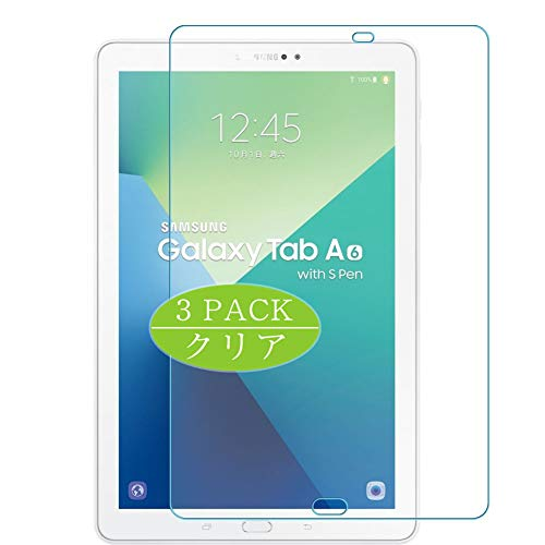 Vaxson Protector de pantalla de 3 unidades, compatible con Galaxy Tab A 10.1 (2016) P585, protector de película de TPU [no protectores de vidrio templado]