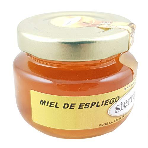 Bote de cristal con miel artesanal de espliego, 80gr para detalles - 5 cms x 4,50 cms-1 unidad