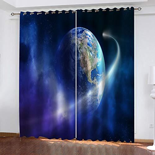 WLHRJ Cortina Opaca en Cocina el Salon dormitorios habitación Infantil 3D Impresión...