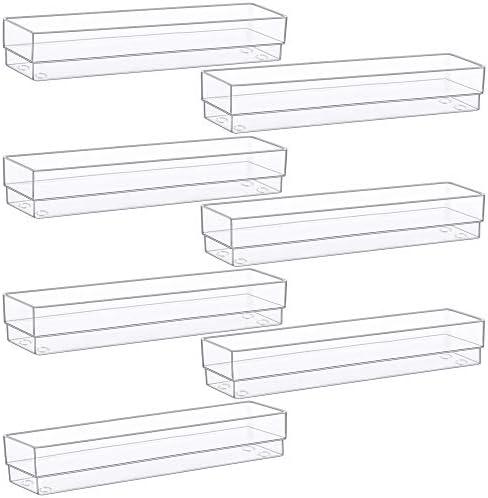 Kootek Desk Drawer Organizer Modular Plastic Bins Drawer Dividers Makeup Organizers Trays Customize product image
