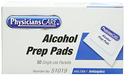 PhysiciansCare by First Aid Only First Aid Alcohol Pads, Box of 50 Individually Wrapped from First Aid Only