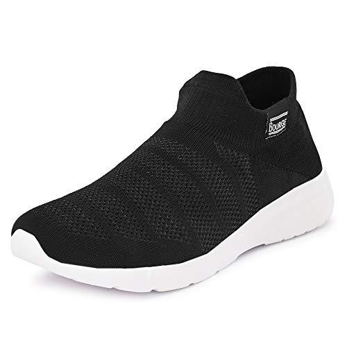 5. Bourge Men Moda-Z4 Black Running Shoes