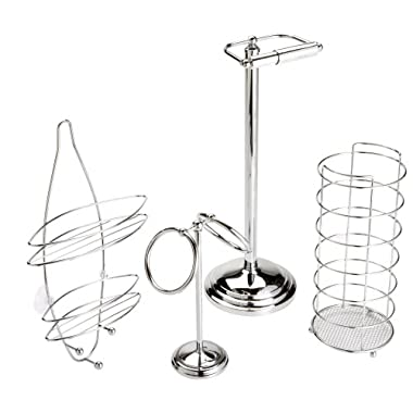 Taymor 4-Piece Bathroom Essentials Gift Set, Chrome