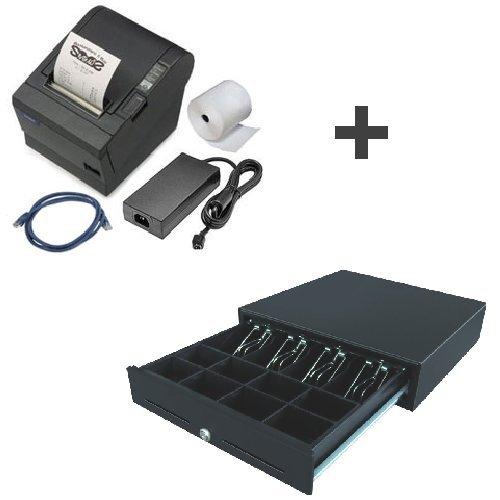 Bundle: Bondrucker Epson TMT-88-V USB (gebraucht) + Kassenlade CD-57 (neu)
