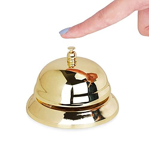 fogman 呼び鈴 卓上 ベル チャイム 受付 プレート カウンターベル 受付カウンター ゴールド 金色