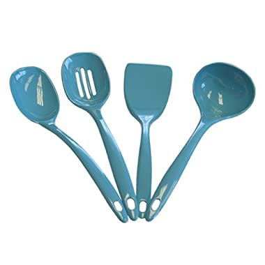 Calypso Basics by Reston Lloyd Melamine Utensil Set, 4-Piece, Turquoise