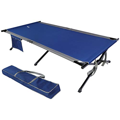 EVER ADVANCED Oversized XXL Folding Camping Cot.