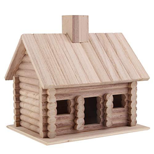 LQCN Bird House House Mangeoire à Oiseaux Exclusive Grande Maison d'alimentation en Bois, 1pc