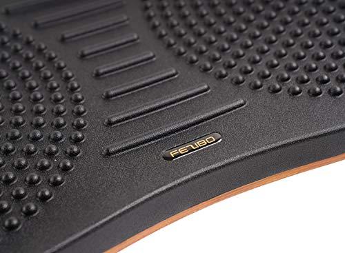 Product Image 6: FEZIBO Standing Desk Anti Fatigue Mat Wooden Wobble Balance Board Stability Rocker with Ergonomic Design Comfort Floor Mat (Medium, Obsidian Black)