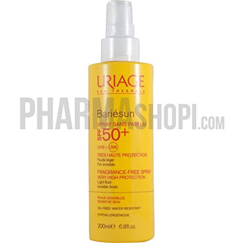 Uriage Bariesun Spray sin fragancia 200 ml SPF 50 + piel sensible – sin aceite