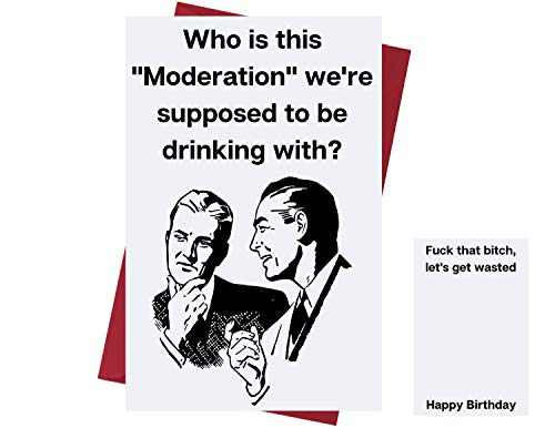 Funny Happy Birthday Card for Men & Women – Birthday Card for Drinkers - Prank Birthday Card – Funny Birthday Card for Friends, Family, Coworkers, Etc. – Alcohol Birthday Card – with Envelope