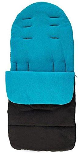 sunnymi Universal Baby Fußsack, Kleinkind Winddicht Warm Pram Kinderwagen Dickes Wattepad, Gemütliche Zehen Schürze Liner Buggy (Baumwollmischung, Blau)