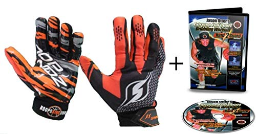 Hoop Handz Weighted Basketball Training Gloves w/Full Court Dribbling Drills DVD (Large)