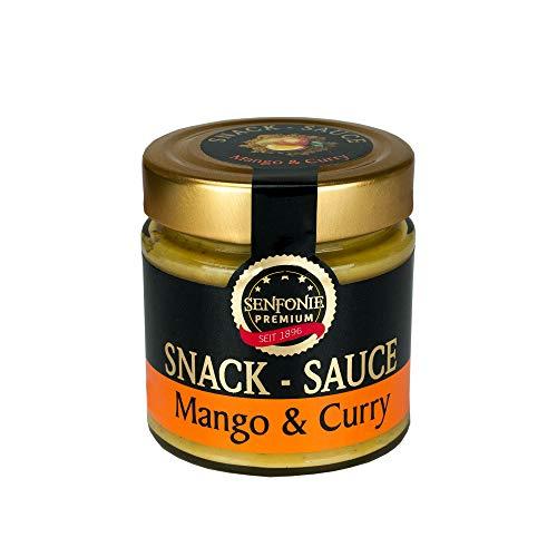 Altenburger Original Senfonie Premium Snack Sauce - Mango & Curry 180ml im umweltfreundlichem Glas