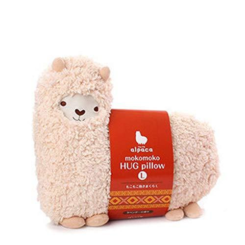 Acycee Tante Merry Mokomoko Llama, Alpaka, Umarmungskissen, Puppe, Weiß