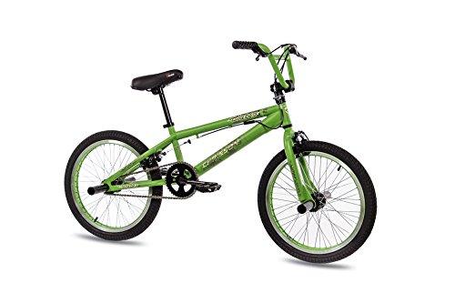 KCP - Bicicleta BMX freestyle (20', 50,8 cm (20')), color verde