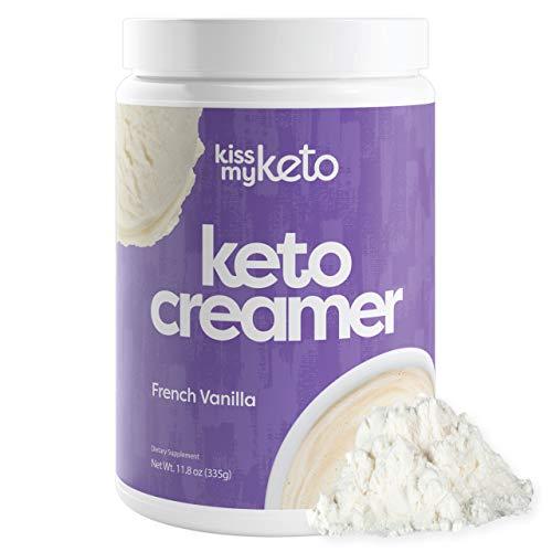 Kiss My Keto Creamer — French Vanilla Flavor | Low Carb Keto Coffee Creamer + MCT Oil Powder C8 (9g) | Sugar Free, Ketogenic Creamer for Coffee & Tea, Keto Shakes (30 Servings)
