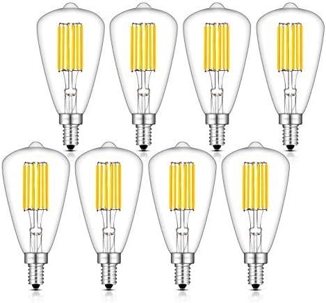 OMAYKEY 6W Dimmable LED Candelabra Bulb 3000K Soft White 65W Equivalent 650LM E12 Base Vintage product image