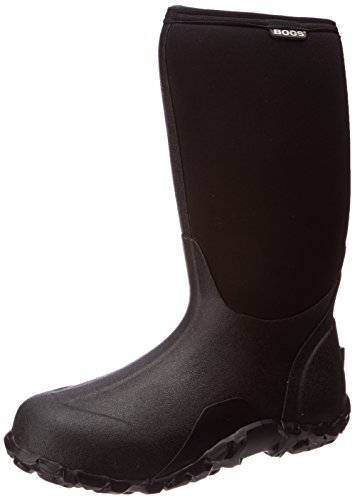 Bogs Men's Classic High Waterproof Insulated Rain Boot, Black, 11 D(M) US
