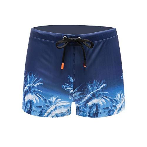 Meerway Bañador Hombre Bañadores de natación para Hombre Bóxer Calzoncillos Cortos Trajes de Baño Cortos Cordón Adjustable Coco