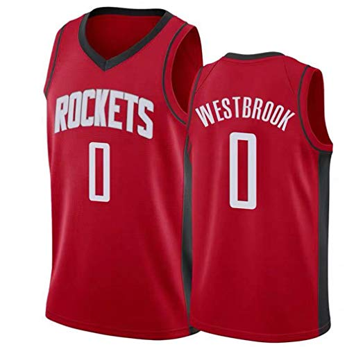 Rying Junge Herren NBA Houston Rockets 13# Harden 0# Westbrook Basketball T-Shirt Sommer Stickerei Trikots Basketballuniform Top Basketball Anzug