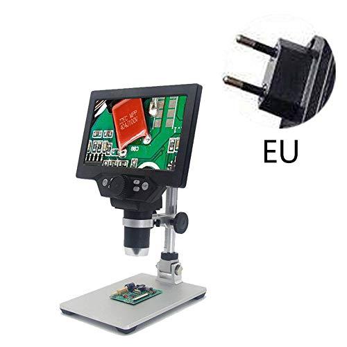 Video Microscopi Elettronici,microscopio Digitale LCD,ingrandimento 7 Pollici 1200X Zoom HD 12 Megapixel Microscopio USB Regolabile Microscopio Per Saldatura Lente Di Riparazione Del Telefono Con Supp