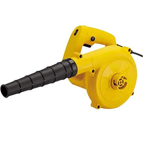 YANGSANJIN kabelgebonden elektrische bladblazer 6 handlicht 600 W huishoudelijke schoonmaakindustrie stofverwijdering voor binnen en buiten, geel