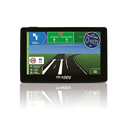 MAPPY GPS ITI S456 (Écran : 4, 3 Pouces - 15 pays - Mise à jour Gratuite jusqu à 4 fois par an) Noir